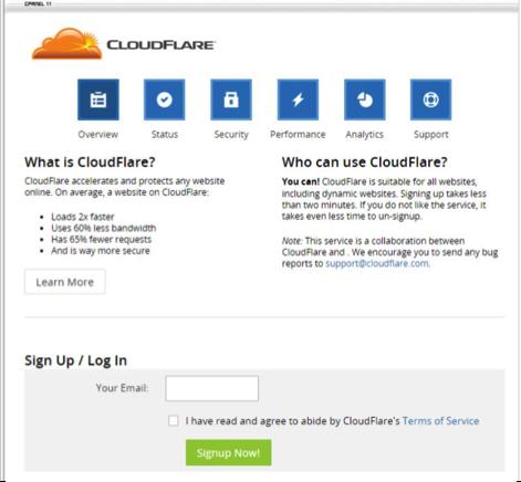 CloudFlare Pasul 2